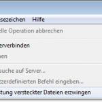 FileZilla: Versteckte Dateien anzeigen