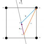 Träheitsmoment von 4 Massenpunkten