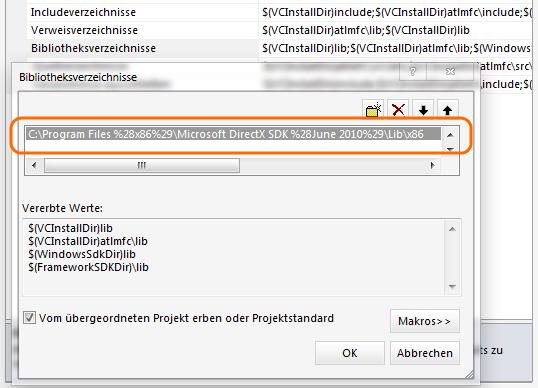 VS: DirectX einbinden 5