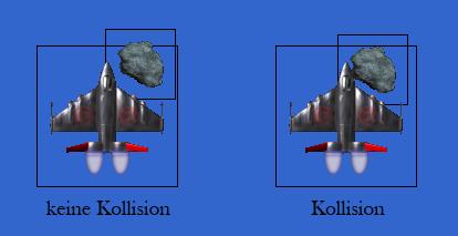 Pixelgenaue Kollisionserkennung im Beispiel 2