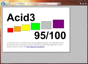 IE9 Acid3 Test