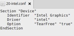 Tearing auf Intel-Grafikkarten unter Ubuntu / Linux Mint entfernen