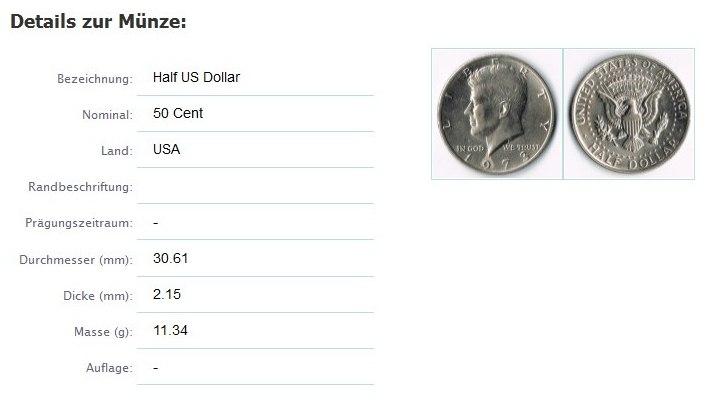 Online Münzenverwaltung